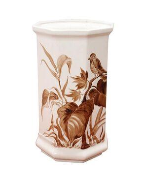 Vaso in ceramica artistica dipinto a mano 1980 circa