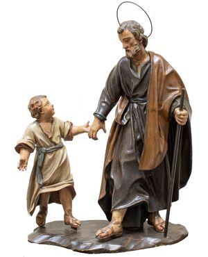 San Giuseppe col Bambino,  XVIII secolo