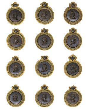 Ritratti con busti di imperatori romani e consorti, XIX secolo