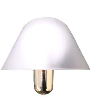 Applique in ottone e vetro di murano design anni '70 marchio presente VeArt