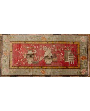 Tappeto antico Samarkanda con vasi - nr. 1417 -