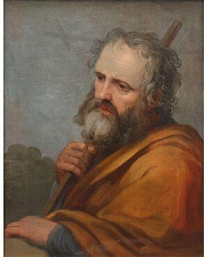 San Giuseppe, Simone Cantarini detto il Pesarese (1612 - 1648), attr.