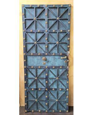 Stupenda porta in ottone ossidato - fine XX sec.