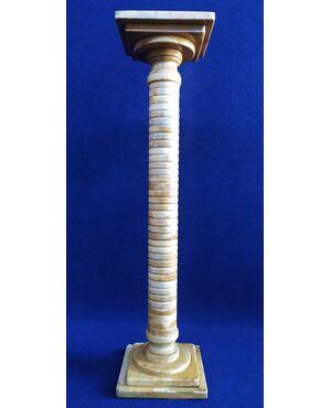 Colonna Art Deco in alabastro cm 98 h - Italia anni '30