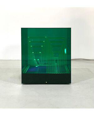Cubo di Teo Table Lamp by James Rivière for Centro Ricerche Arte Industria Lissone, 1960s