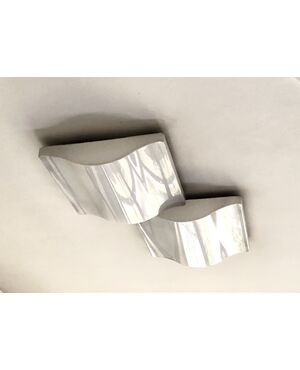 Wave Wall Lights or Ceiling Lamps from Iguzzini, 1970s, Set of 2