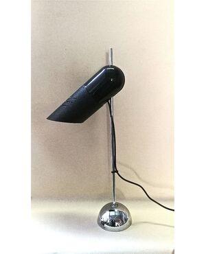 """Lampada da tavolo """"Galdino""""  design Carlo Urbinati  Produz. """"Harvey Guzzini""""  anni '70 - Larghezza 34 cm, Altezza 65 cm, Diametro 14 cm"""