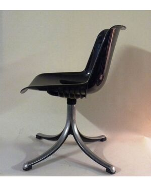 Sedia TECNO di BORSANI in materiale plastico e alluminio Modello: MODUS, Design: Borsani ,Azienda: Tecno, Anni '70