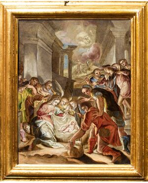 Adorazione dei Pastori, Girolamo Siciolante detto da Sermoneta (1521 - 1575)