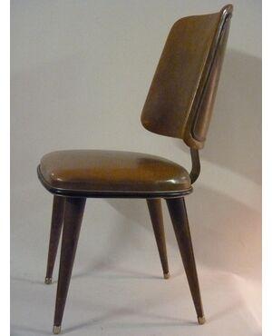 Sedia da ufficio legno e copertura in similpelle, G.ULRICH ? - Anni '40 Italia