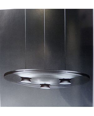 "Lampadario di ARTELUCE modello ""AURORA"" - Designer: P. King & S. Miranda - ANNI '80, ITALIA"