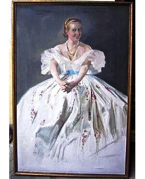 """QUADRO, olio su tela FIRMA """"Ch. J. WATELET 1935""""  - BELGIO (1867-1954) ,  RITRATTO di """"SIMONE MIRAT"""" 147 x 100 cm"""