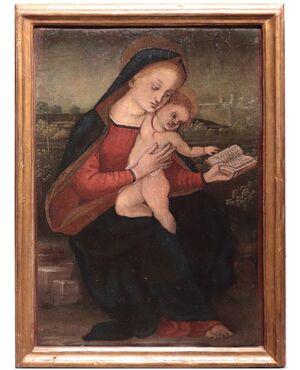 """Dipinto: """"Madonna con Bambino"""", Toscana, '800"""