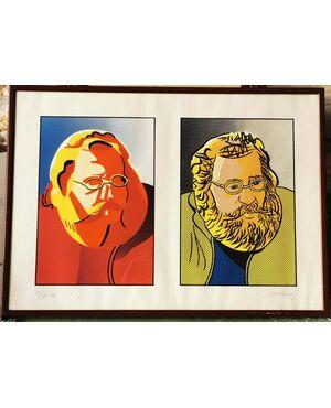 LITO di SILVANO BERTAGGIA (rappresenta l''Arch. MANFREDO TAFURI docente IUAVi)  73/75 -1980 cm 50 x 70 su carta Fabriano
