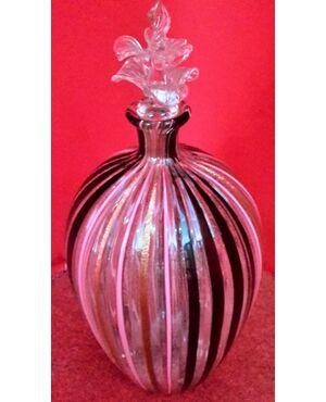Bottiglia in vetro soffiato con tappo