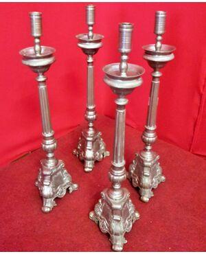 Gruppo di quattro candelieri