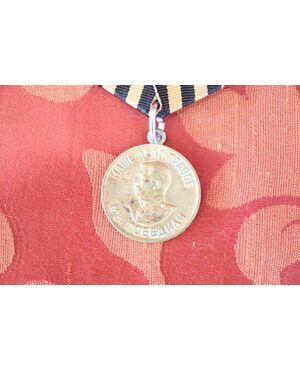 Medaglia da collezione in ottone Stalin vittoria sulla Germania 1941/1945 euro 25