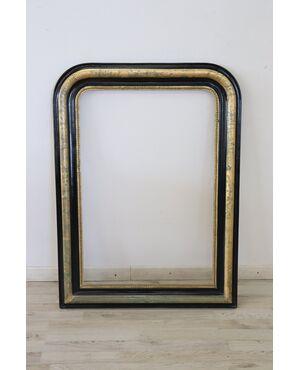 Grande cornice ebanizzata e foglia oro epoca Luigi Filippo metà 1800 Sec. XIX euro 500 trattabili
