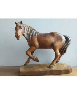 Cavallo ligneo Val Gardena