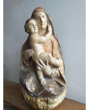 Madonna con bambino - opera lignea Tedesca