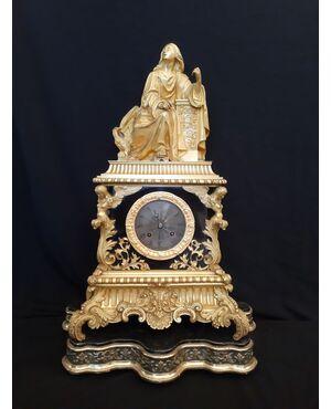 Orologio in bronzo dorato Carlo X