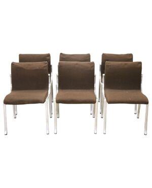 Set di sei sedie design stile Osvaldo Borsani, 1970 prezzo trattabile