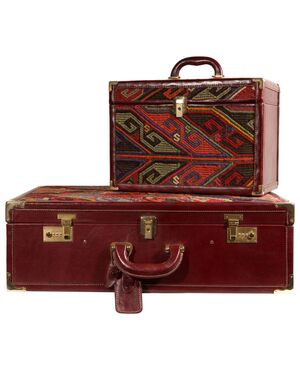 Set da viaggio: valigia e beauty- case -nr. 01/02 -