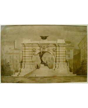 Proposta per piazza Cavour a Como (1920 circa)