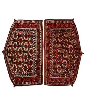 Rara coppia di tappeti Turkomanni YOMUTH ASMALIK - n.818