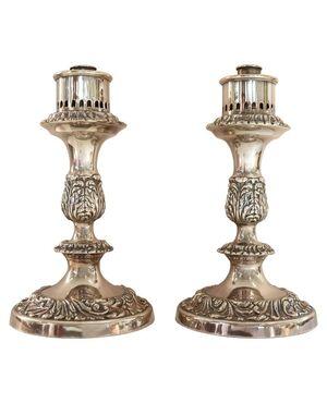 Coppia di candelabri placcati argento PREZZO TRATTABILE