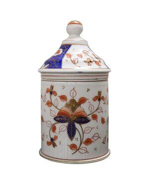 Barattolo orientale in porcellana dipinto a mano Giappone sec. XX PREZZO TRATTABILE