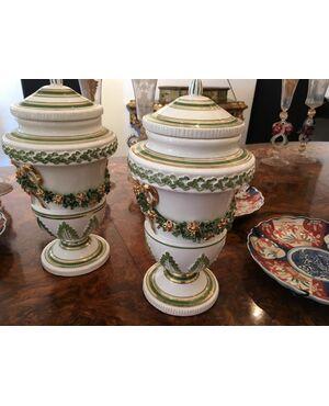 Coppia alzatine in ceramica Bassano del Grappa