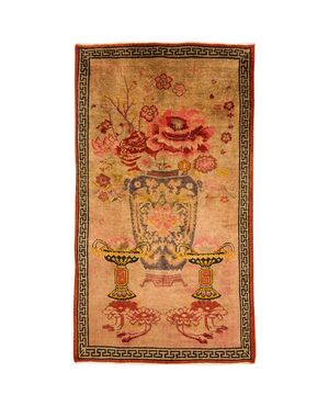 Particolare tappeto Sinkiang con grande vaso - n.1229