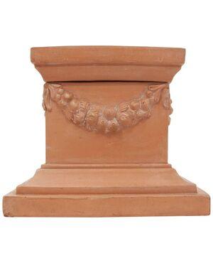 Base/colonna Toscana in terracotta - n.2048