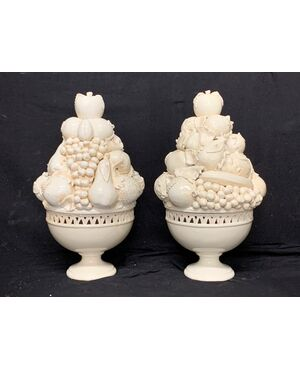 Coppia trionfi in ceramica