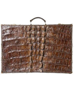 Antica valigia in coccodrillo - O/2489