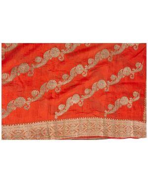 Antico Sari Indiano color corallo - B/1524-6
