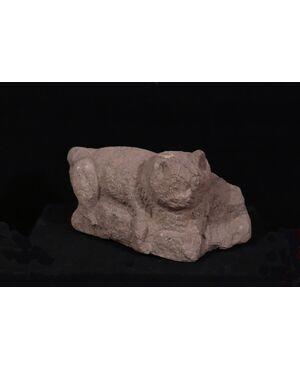 """Scultura:""""Animale felino"""", Epoca: '300-'400"""