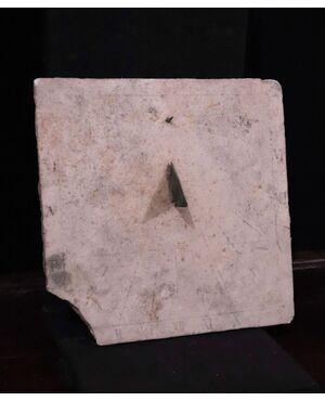 Meridiana in marmo, Toscana, Sec. XVII