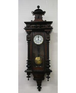Orologio a pendolo da muro in noce - fine 800 - morbier - umbertino
