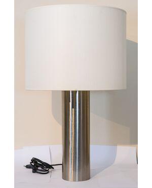 Lampada cilindro REGGIANI in acciaio anni '70