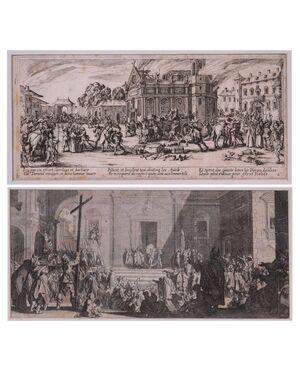 Jacques Callot (Nancy 1592 – 1635) - coppia di acqueforti