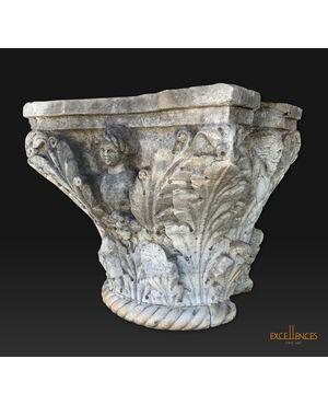 Grande capitello antico marmo