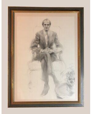 Antonio Agudo (1946) - Magnifico ritratto reale di Juan Carlos I.