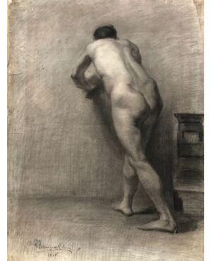 Scuola spagnolo (inizio XX secolo) - Nudo maschile