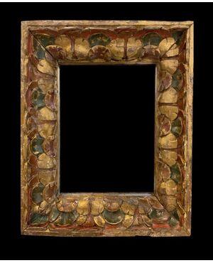Magnifica Cornice in Legno Intagliato - Spagna, XVII
