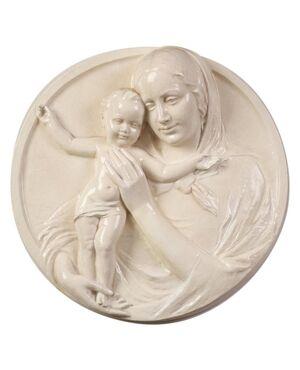 Altorilievo in ceramica Madonna con Bambino - O/4832