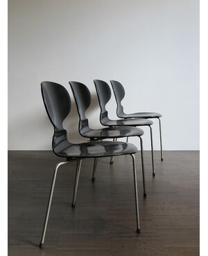 4 Formica chairs by Arne Jacobsen for Fritz Hansen, 50s