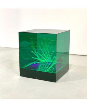 James Rivière for Centro Ricerche Arte Industria Lissone Cubo di Teo Table Lamp, 1960s