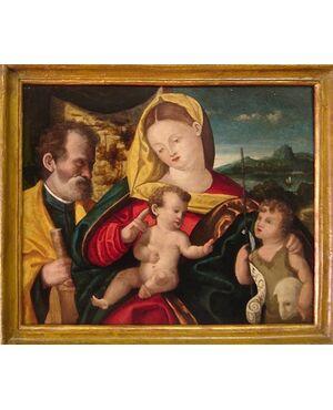 Madonna con Bambino, S Giuseppe e S Giovannino.